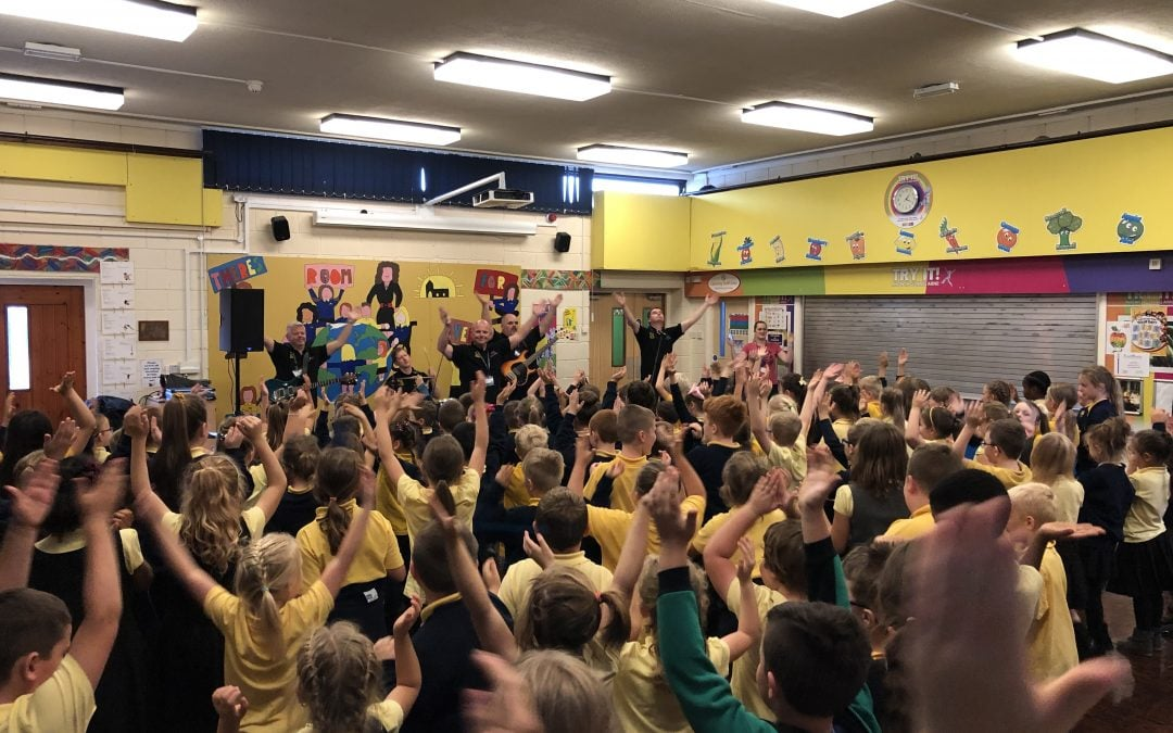 Make Some Noise visits Ysgol Heulfan!