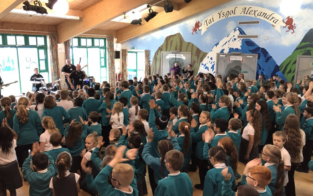 Make Some Noise visits Ysgol Alexandra